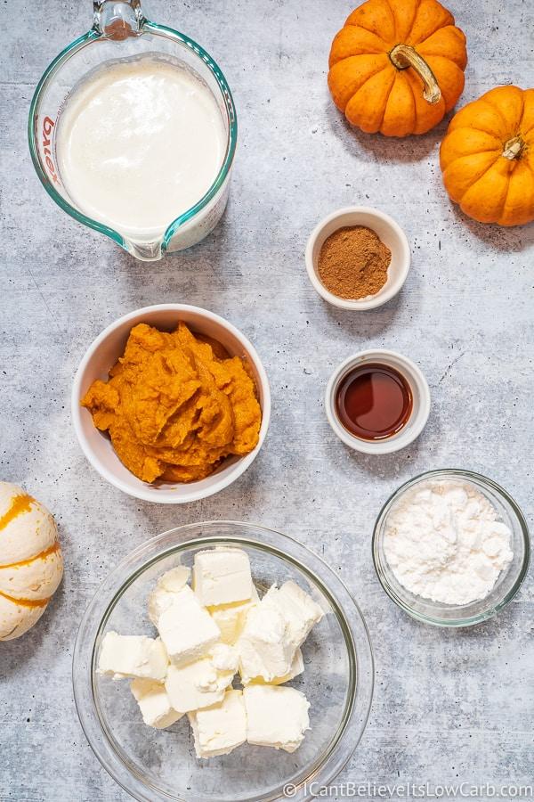 Keto Pumpkin Mousse Ingredients
