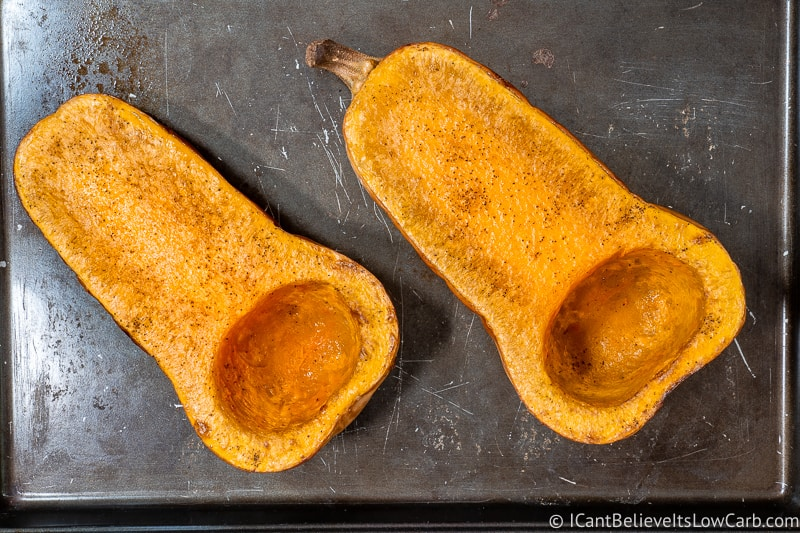 Roasted Butternut Squash on a tray
