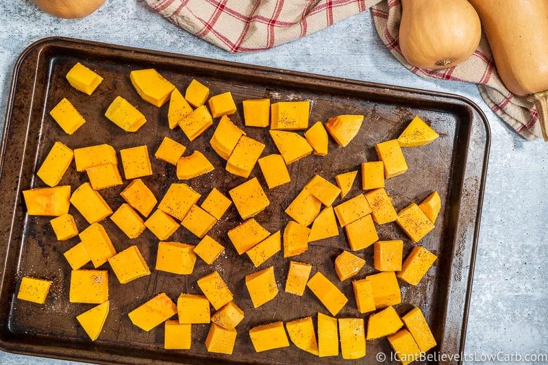Seasoned Butternut Squash cubes