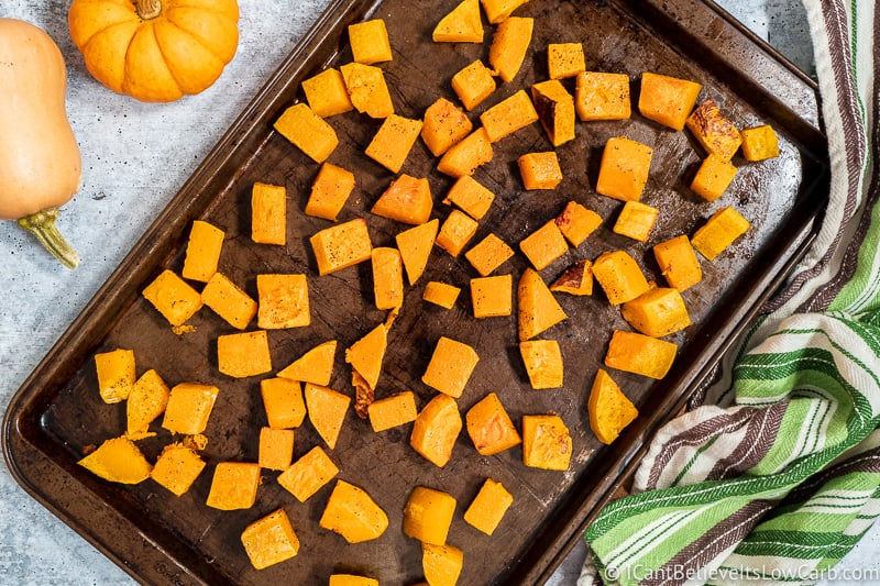 How to Roast Butternut Squash in cubes