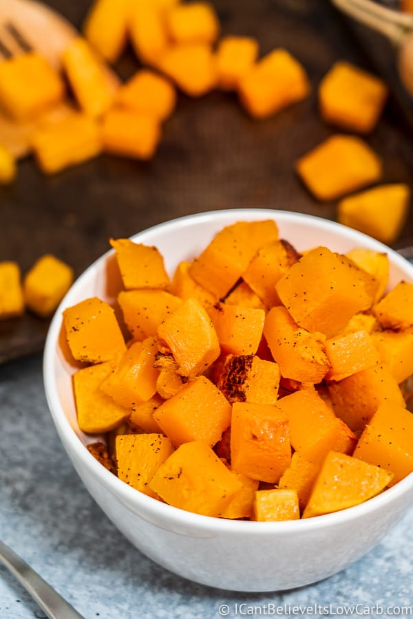 White Bowl of Roasted Butternut Squash