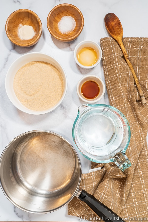 Keto Maple Syrup Ingredients