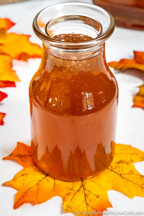 Keto Maple Syrup in a bottle