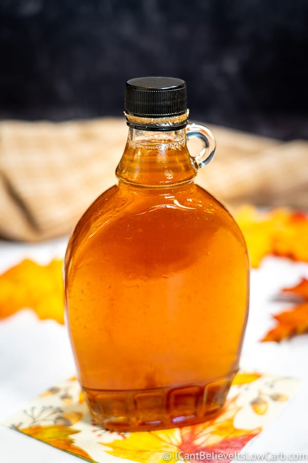 A Bottle of Sugar-Free Maple Syrup