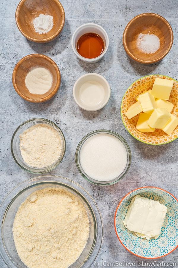 Keto Cream Cheese Cookies ingredients