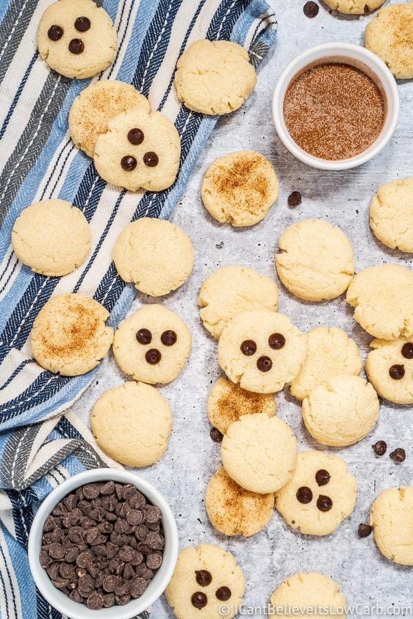 Pile of Keto Cream Cheese Cookies