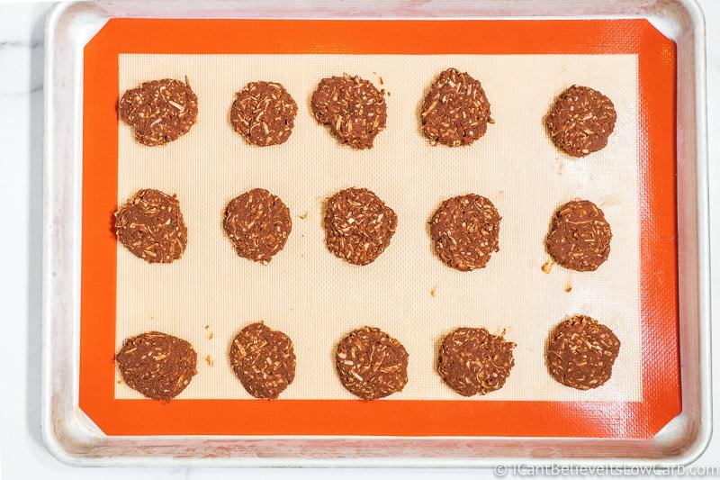 Keto No Bake Cookies after freezing