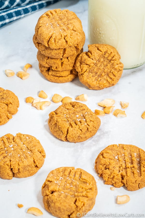Easy No-Sugar Peanut Butter Cookies