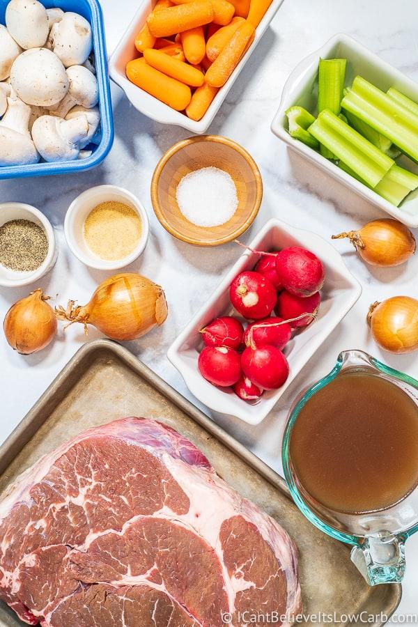 Keto Pot Roast Ingredients