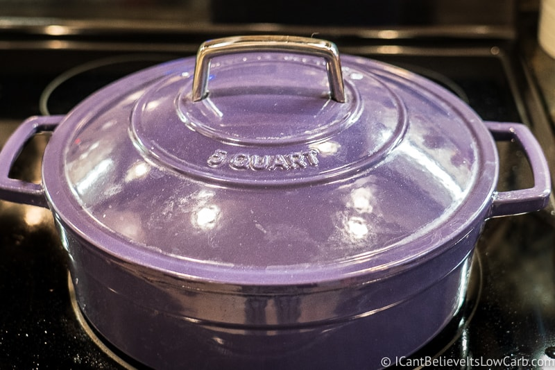 Covering Pot Roast with lid