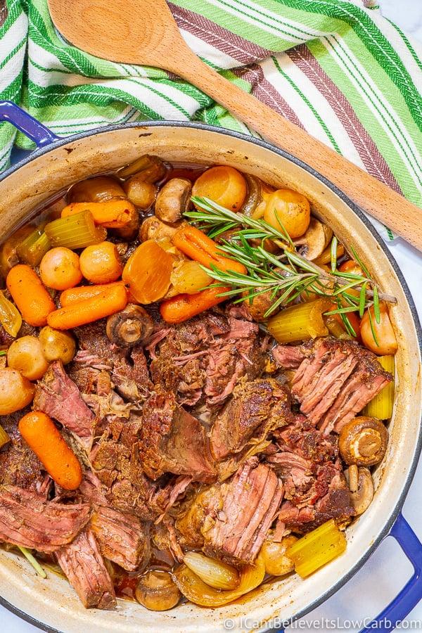 Keto Pot Roast in Dutch Oven