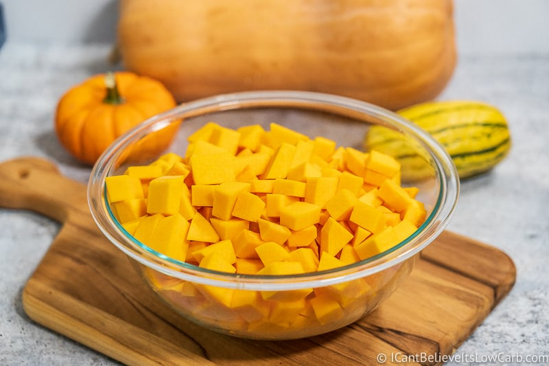 Bowl of cut Butternut Squash