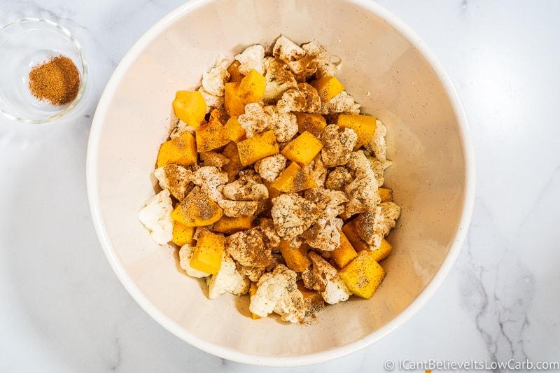 Adding black pepper to Keto Sweet Potato Casserole