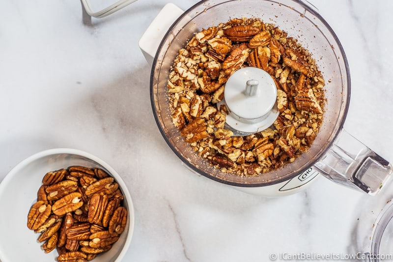 chopping pecans in food processor