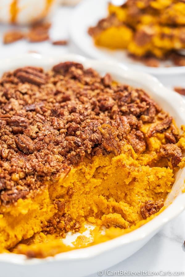 Low Carb Sweet Potato Casserole Recipe