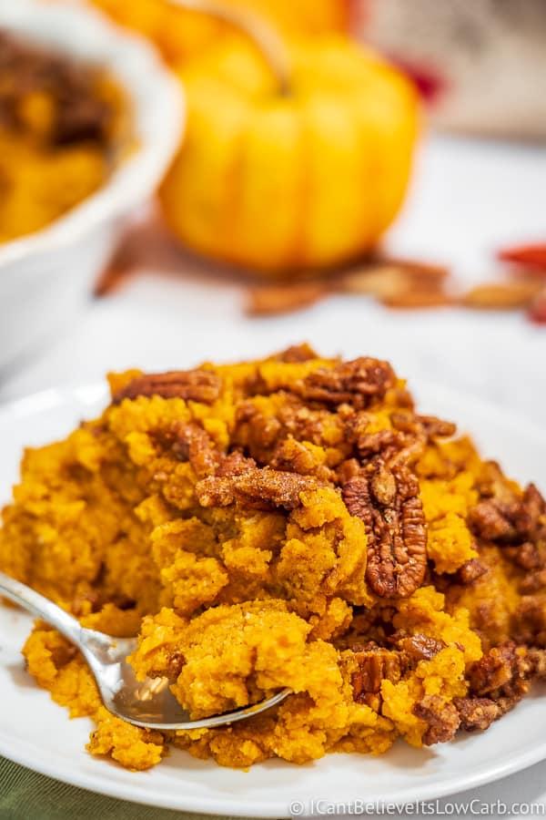 Low Carb Keto Sweet Potato Casserole