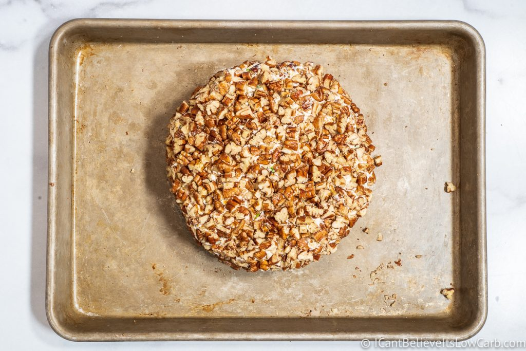 Cheese Ball rolled in pecans