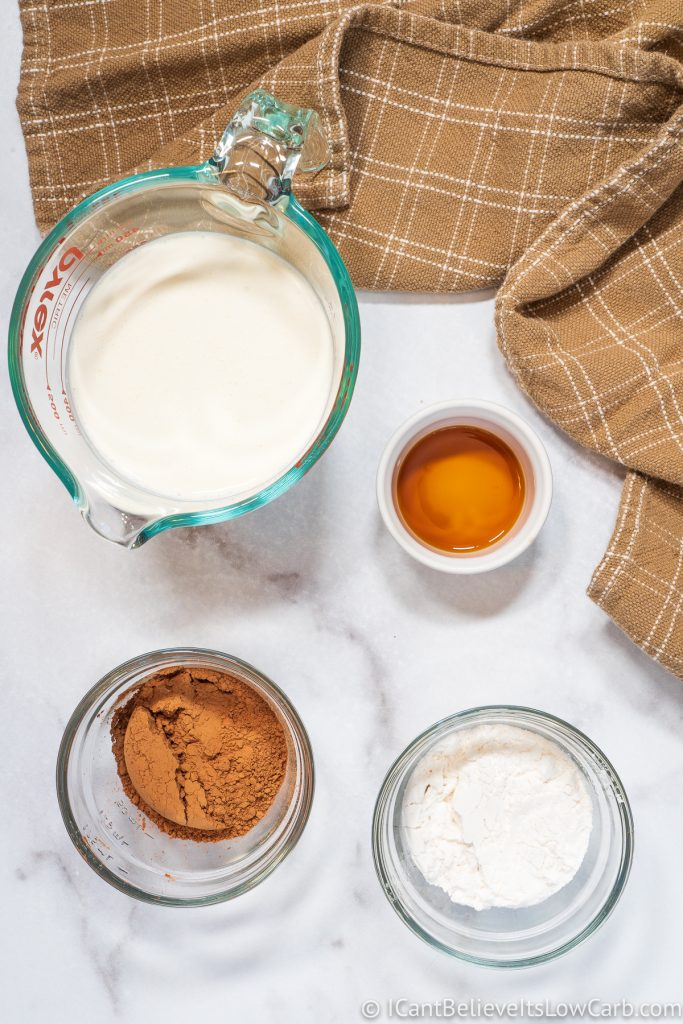 Keto Chocolate Mousse ingredients