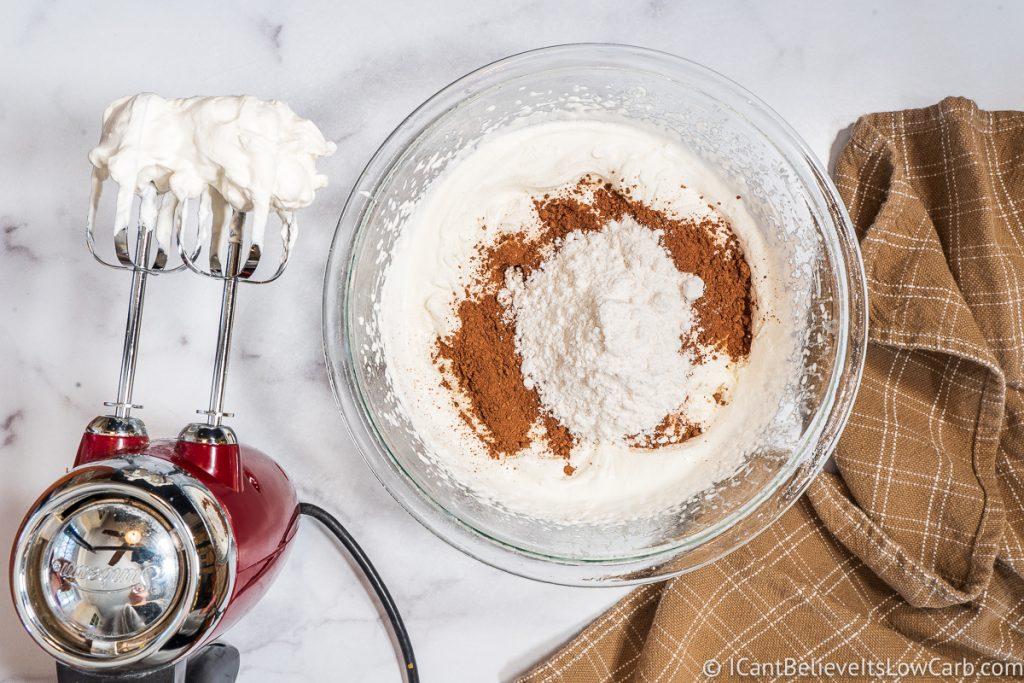 adding powdered low carb sweetener