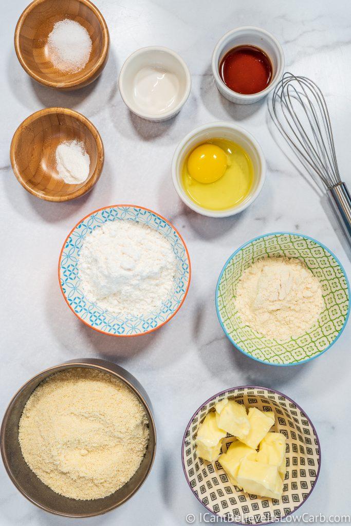 Keto Sugar Cookies ingredients