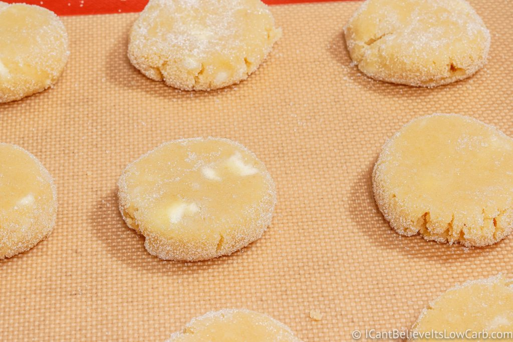 Pressed Sugar Cookie dough on tray