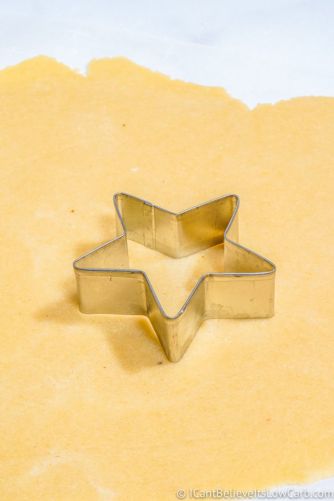 Star cookie cutter on Sugar Cookie dough