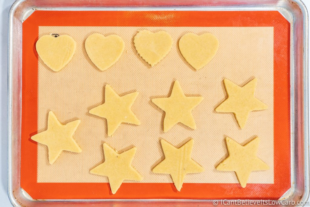 Hearts and Star-shaped Sugar Cookie dough