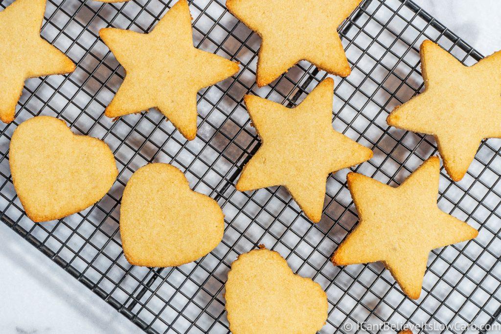 Keto Sugar Cookies on cooking rack