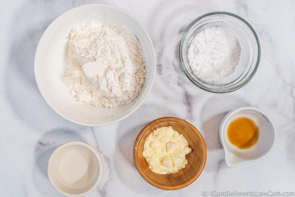 Ingredients for Keto Royal Icing