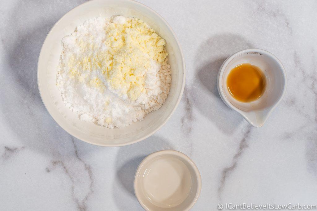 adding egg white protein powder to sweeteners