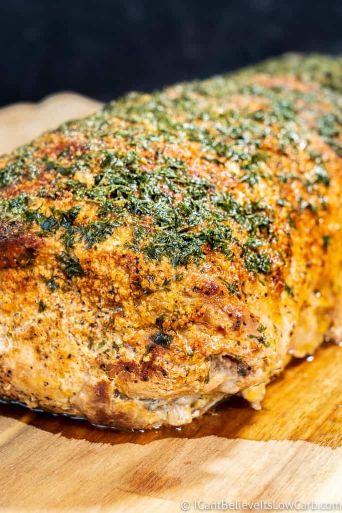 Pork Loin Roast after cooking