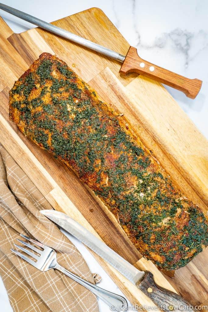 Pork Loin on cutting board