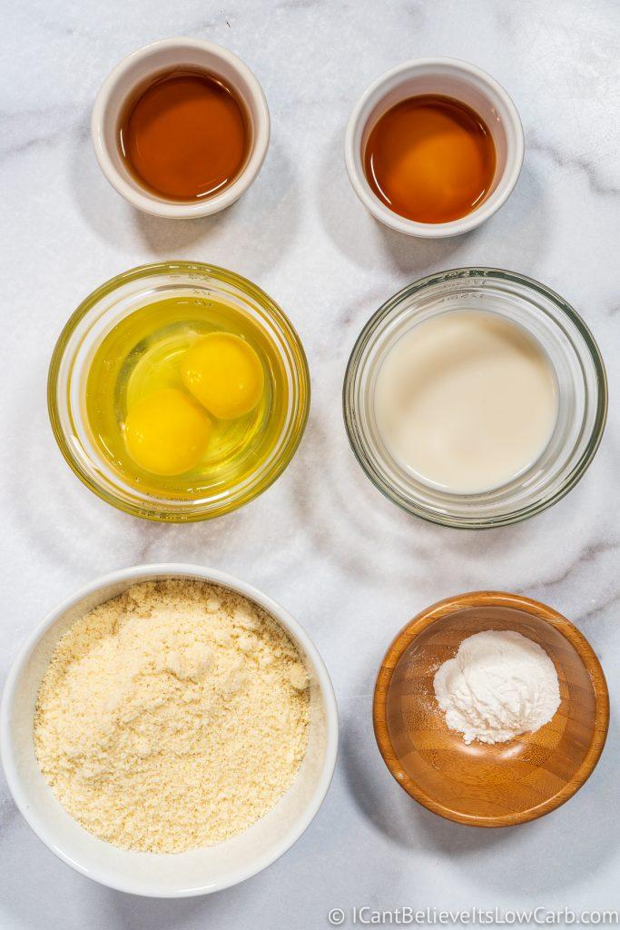 Almond Flour Pancakes ingredients