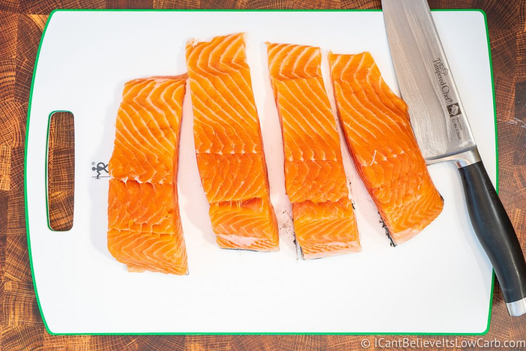How to cut salmon fillets Salmon