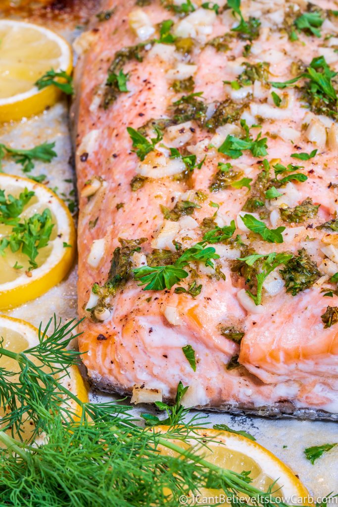 How to bake salmon fillet