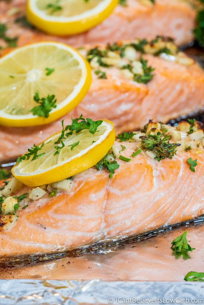 Easy Baked Salmon Recipe with garlic