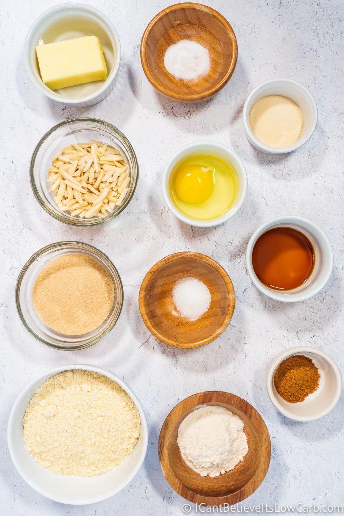 Keto Oatmeal Cookies ingredients