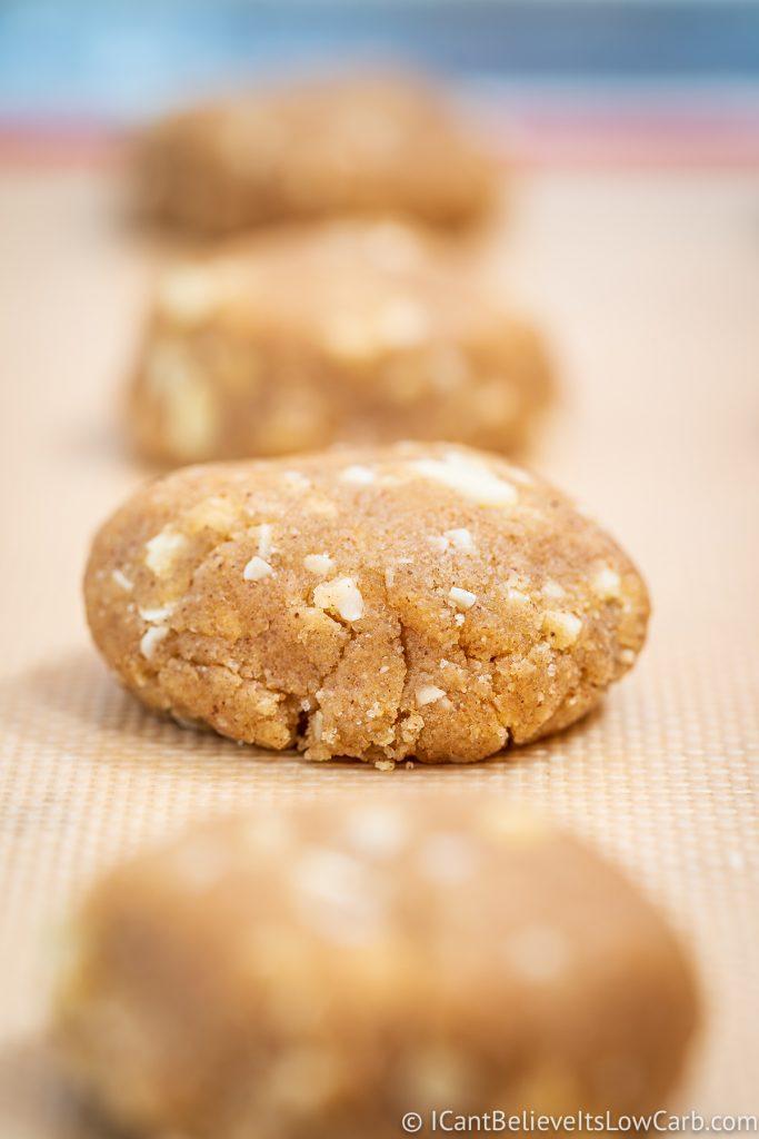 Keto Oatmeal Cookies before baking