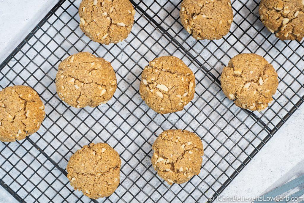 Sugar-Free Oatmeal Cookies on cooling rack