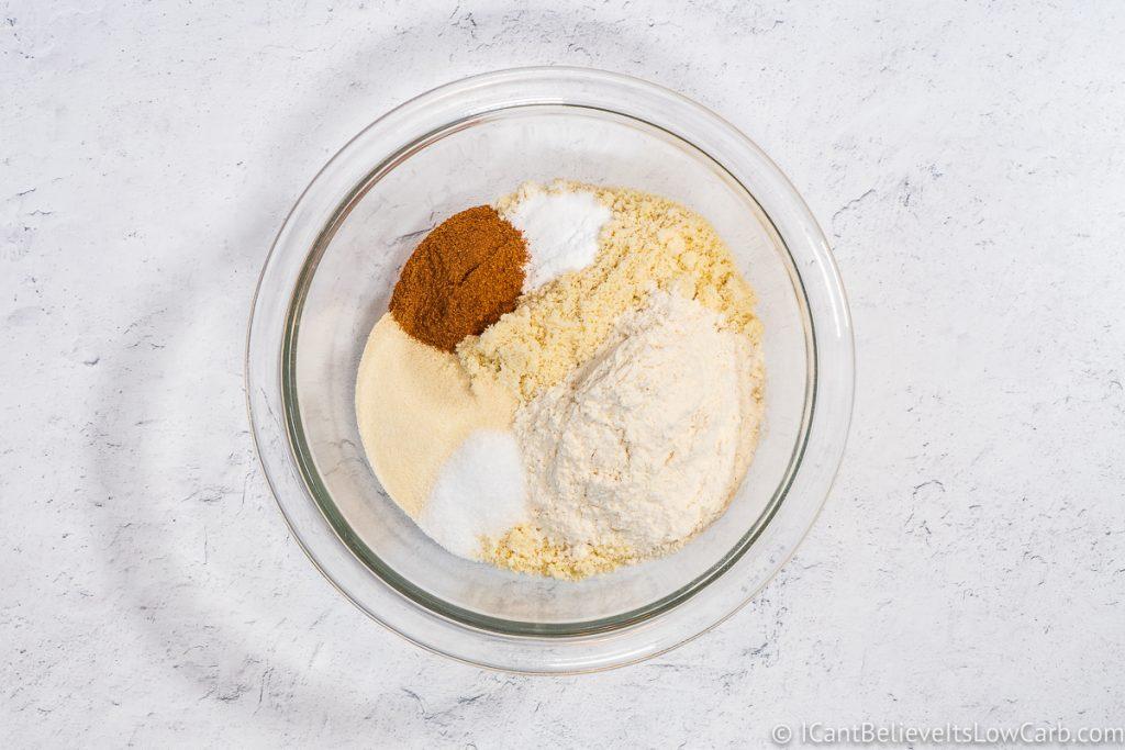 Adding cinnamon to mixture