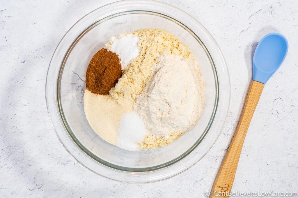 Dry ingredients for sugar-free Oatmeal Cookies