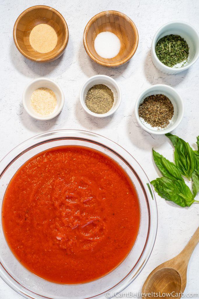 Keto Spaghetti Sauce ingredients