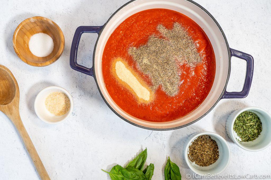 Adding garlic powder