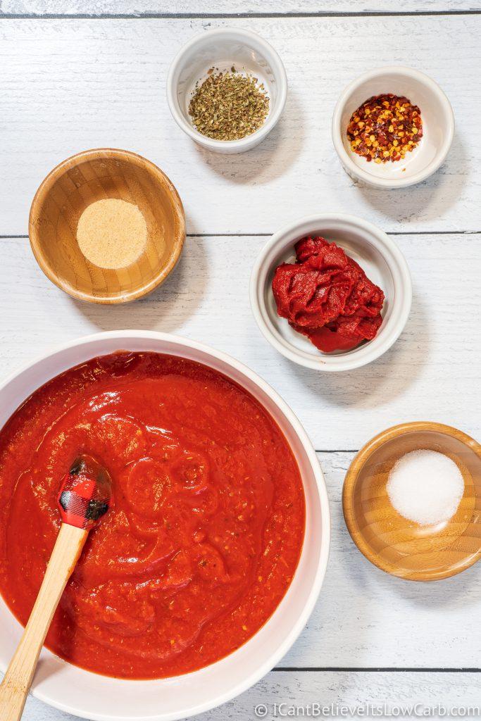 Keto Pizza Sauce ingredients