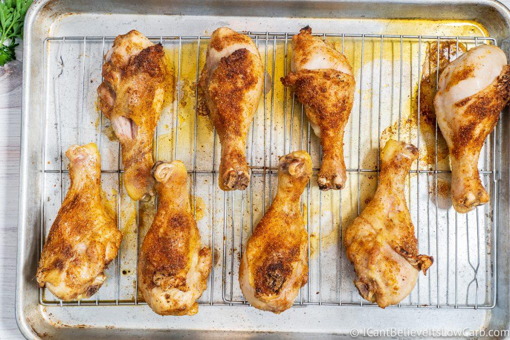 Baked Chicken Drumsticks on sheet pan