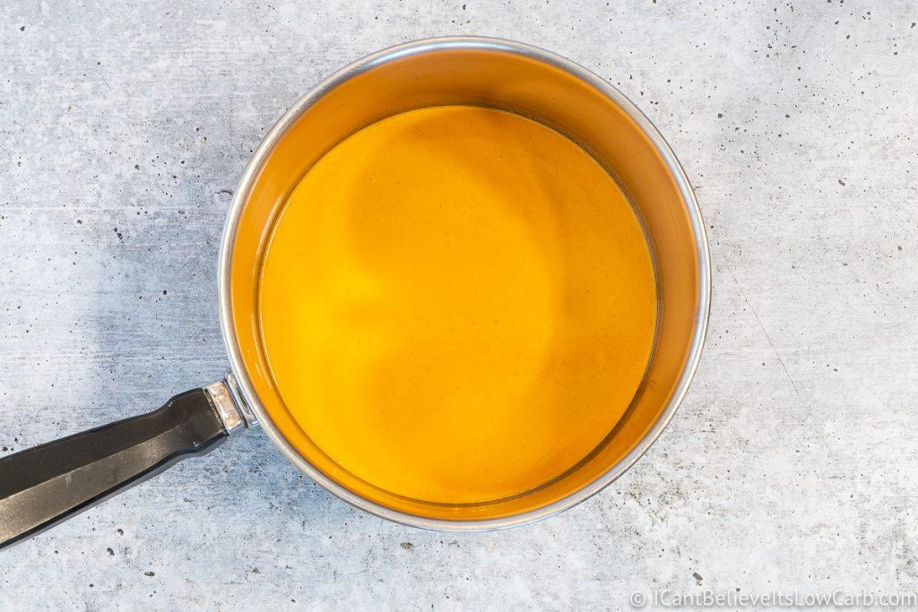 Buffalo Sauce in a pan