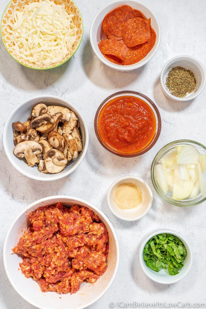 Crustless Pizza Ingredients