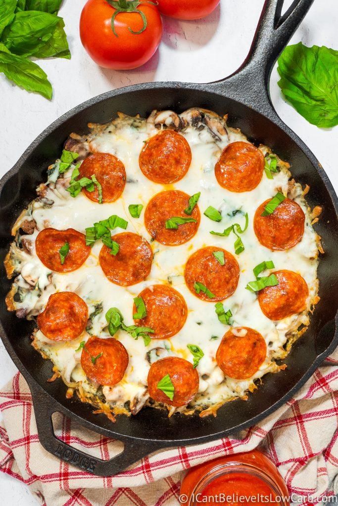 Keto Crustless Pizza recipe