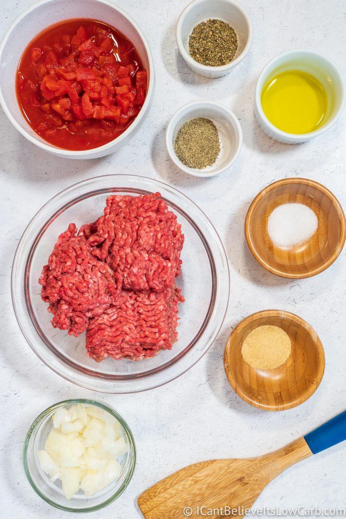 Keto Lasagna Ingredients