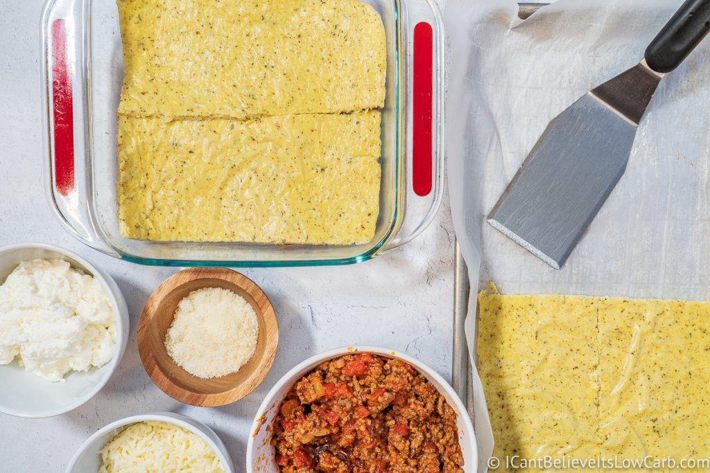 layering low carb lasagna sheets